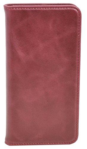 Funda Smartphone Gusti Cuero Estuche para HTC One A9 de Cuero Rojo HTCOneA9-1-47-6