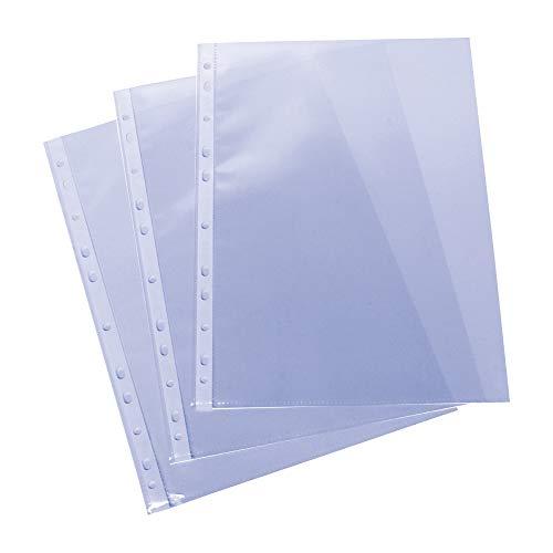 Grafoplás 5576700. Pack de 100 Fundas Multitaladro A4, Polipropileno Estándar, Color Transparente, Piel Naranja