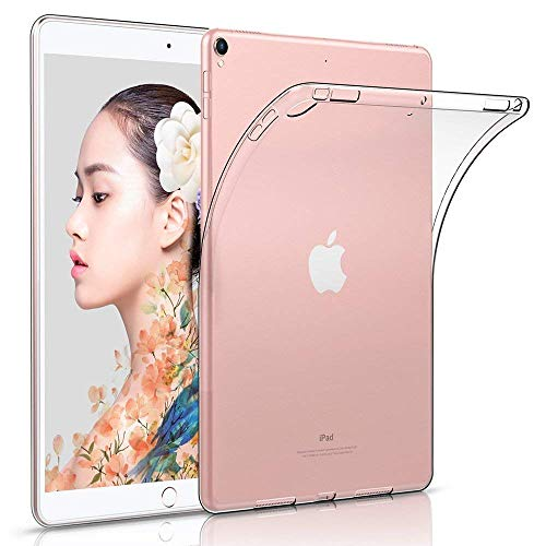 """HBorna Funda para 10.9"""" iPad Air 4 2020 Carcasa Case - Clear TPU Silicone Back Case Anti Slip Shockproof Bumper Protector for iPad 10.9 [Compatible with Apple Pencil 2nd Gen Charging], Transparente"""