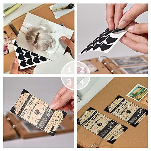 Hojas de esquinas de montaje de fotos para el álbum de recortes, el álbum de fotos, el diario de viaje, el libro de recuerdos o la lechería (240 piezas multicolor)