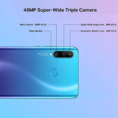 "HONOR 20S Smartphone 6GB 128GB 6.15"" FHD+ Teléfono Móvil, 48 + 8 + 2MP Cámara Trasera, Kirin 710 Octa-Core Google Play NFC Dual SIM Negro, Negro"