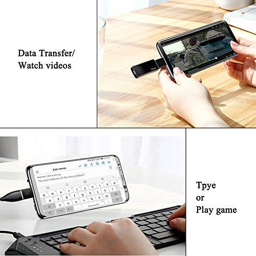 Jiusion - Adaptador convertidor tipo C macho a USB hembra OTG para Samsung, MacBook, Huawei, Xiaomi, C Mobile (Pack de 2)