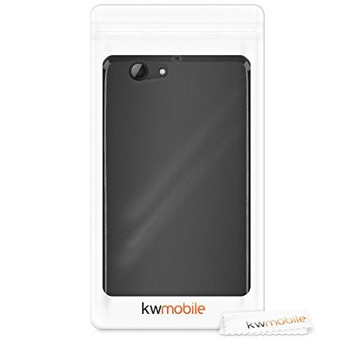 kwmobile Funda Compatible con HTC One A9s - Carcasa de TPU Silicona - Protector Trasero en Negro Mate