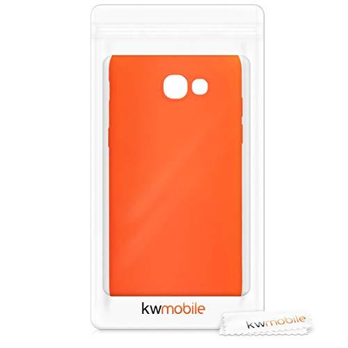 kwmobile Funda Compatible con Samsung Galaxy A5 (2017) - Carcasa de TPU Silicona - Protector Trasero en Naranja neón