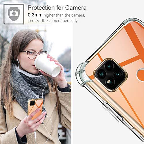 Leathlux Funda para Xiaomi Redmi 9C, 2 Pack Cristal Templado Protector de Pantalla, Ultra Fina Silicona Transparente TPU Funda y Protector Airbag Anti-arañazos Carcasa Xiaomi Redmi 9C
