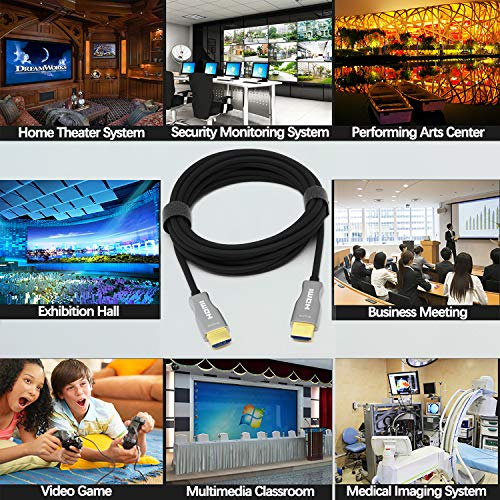 MavisLink - Cable de fibra óptica HDMI de 7,5 m, 4 K, 60 Hz, HDMI 2.0, 18 Gbps, compatible con ARC, HDR, HDCP 2.2, Dolby Vision 3D, para Blu-ray/TV BOX/HDTV / 4K proyector/cine en casa