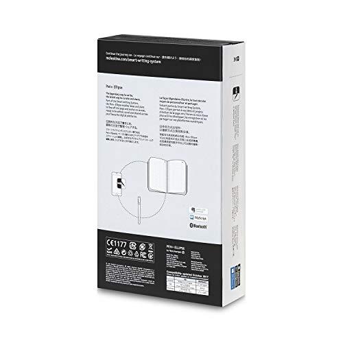 Moleskine - Bolígrafo + Ellipse Compatible con Agendas y Cuadernos Moleskine+, Incluye un Volant XS Start Journal, Color Negro