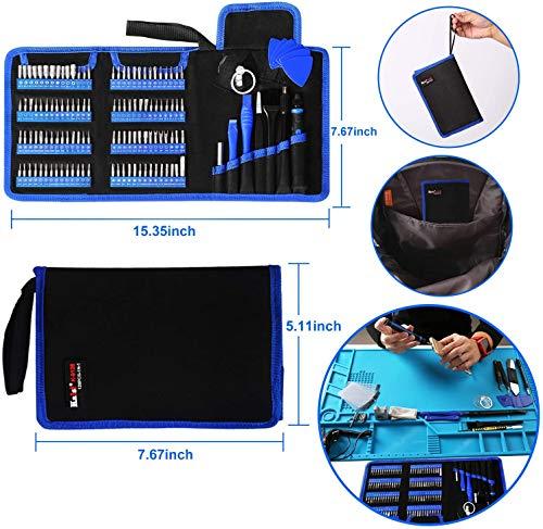 NatureAqua 126 en 1 Destornilladores Precisión, Juego de Destornilladores con Magnetizador, Herramientas Desmontar Kit de Reparación para iPhones, Laptops, Teléfono, Xboxs, Gafas, Reloj, Cámara,TV ect
