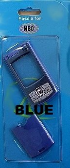 Nuevo Azul carcasa Fascia Facia de repuesto vivienda para Nokia N80