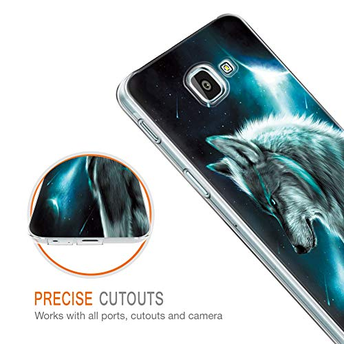 Pnakqil Funda Samsung Galaxy A3 2017 Transparente Silicona Carcasa Ultrafina Suave Gel TPU Piel Antigolpes Protectora Bumper Case Cover Compatible con Teléfono Samsung GalaxyA3, Lobo 02