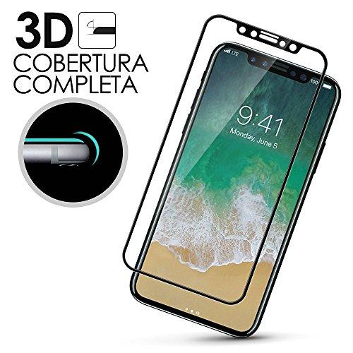 REY Protector de Pantalla Curvo para Samsung Galaxy A5 2017, Transparente, Cristal Vidrio Templado Premium, 3D / 4D / 5D