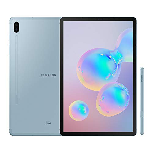 """Samsung Galaxy Tab S6 - Tablet de 10.5"""" sAMOLED (WiFi, Qualcomm Snapdragon 855, RAM de 8 GB, memoria interna de 256 GB, Android 9 Pie), color azul"""