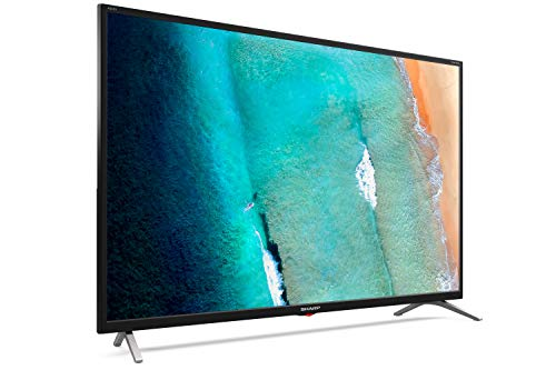 "Sharp 32Bi3EA - smart Android TV (9.0) 32"" HD - 32 pulgadas - Google Assistant controlado por Voz, Chomecast, Bluetooth, Altavoces Harman/kardon, HDR10, 3xHDMI, 2xUSB, DTS Virtual X, Active Motion 400"