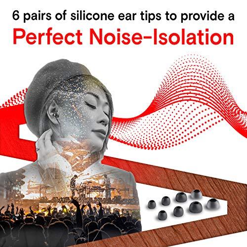 Symphonized NRG X Bubinga Auriculares de Madera con Aislamiento de Ruido con micrófono y Control de Volumen (Negro)