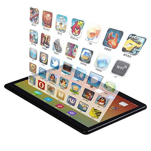 Tablet Android 9.0 de 10 pulgadas con ranuras para tarjeta SIM, 4 GB de RAM, 64 GB de ROM, Quad Core 3G, libre de activación, tableta, WiFi, Bluetooth, GPS, color plateado