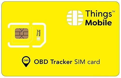 Tarjeta SIM para GPS TRACKER OBD/OBD 2 Things Mobile - con cobertura global y red multioperador GSM/2G/3G/4G, sin costes fijos, sin vencimiento y con tarifas competitivas. 10 € de crédito incluido