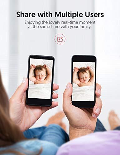 Victure Cámara Vigilancia WiFi, Actualizada 1080P DualBand 2.4G & 5G, Cámara IP WiFi, HD Visión Nocturna, Audio de 2 Vías,Detección de Movimiento Via IPC360 Home App-Blanco