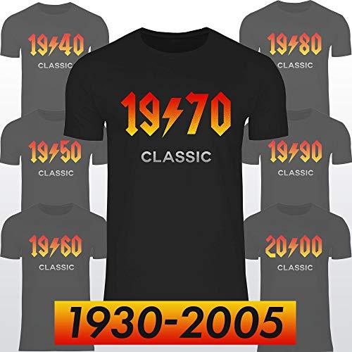 wowshirt Camiseta Regalo para el 50 cumpleaños número 60 20-90 años Nacida de Metales Pesados para Hombre, Tamaño:4XL, Color:1994 Black