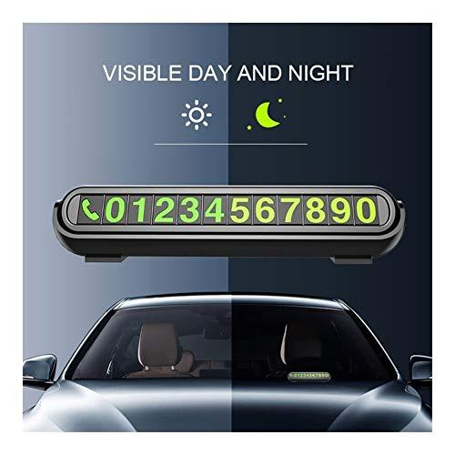 XYBW Tarjeta de Aparcamiento Temporal con aromaterapia Número de Teléfono Tarjeta luz de la Noche Car Styling Teléfono Tarjeta del número de número Oculto Plate (Color : Cologne Orange)