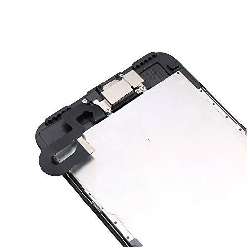 Yodoit Pantalla Completa para iPhone 7 Plus LCD Negro, Ensamblaje de Reemplazo del Digitalizador con Piezas de Repuesto (cámara Frontal, Altavoz Auricular) + Herramienta (5,5 Pulgadas)