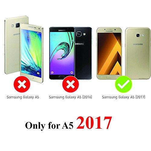 3x Funda para Samsung Galaxy A5(2017), Carcasa Silicona Gel Case Ultra Delgado TPU Goma Flexible Cover para Samsung Galaxy A5(2017) - Chica + Bici + Diente De León