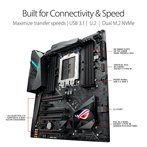 ASUS ROG Strix X399-E Gaming - Motherboard - extended ATX - Socket TR4 -