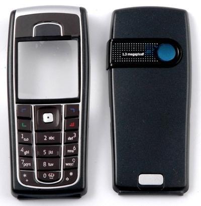 Carcasa para Nokia 6230i 6230Cover Housing Negro