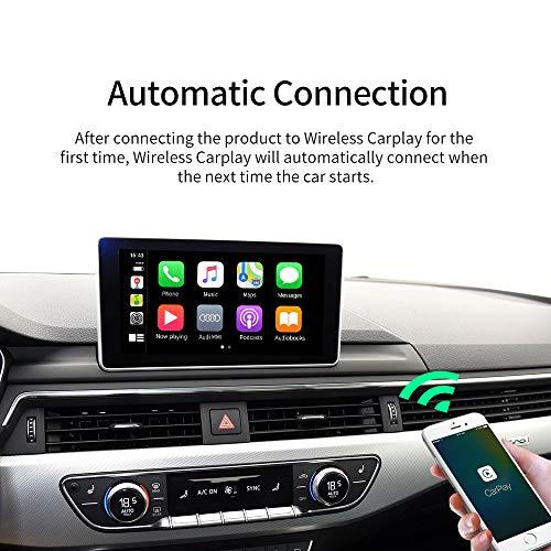 Carlinkit 2.0 Adaptador inalámbrico CarPlay para Audi A3 A4 A5 A6 A7 Q2 Q7 Q5 2017-2019 El Coche Tiene OEM CarPlay con Cable Convertir a Wireles CarPlay, Sistema de actualización en línea, iOS 13-14