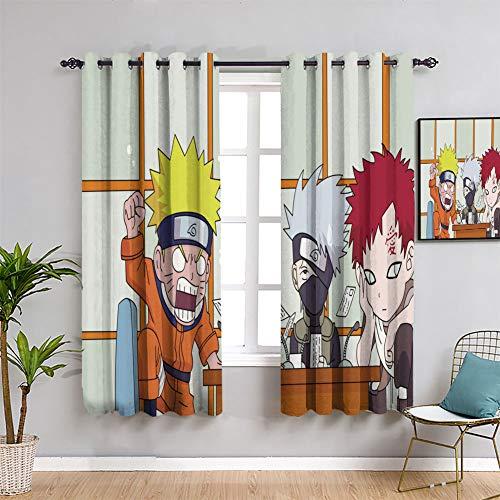 Elliot Dorothy - Cortinas opacas para dormitorio Naruto Uzumaki anime linda cortina de respaldo para ventana, 84 x 84 cm