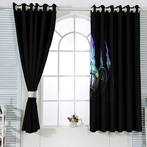 Elliot Dorothy Poke-mon Pika chu - Cortinas lavables, con ojales, para decoración de ventanas, 42 x 54 cm