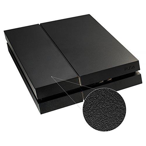 eXtremeRate Funda Externa Carcasa Exterior Cubierta reemplazable Tapa Intercambiable Mate para la Consola del Playstation 4 PS4 Original Negro