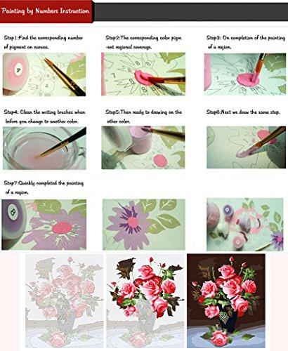 Fuumuui Lienzo de Bricolaje Regalo de Pintura al óleo para Adultos niños Pintura por número Kits Decoraciones para el hogar-Catin Orange Cup 16 * 20 Pulgadas