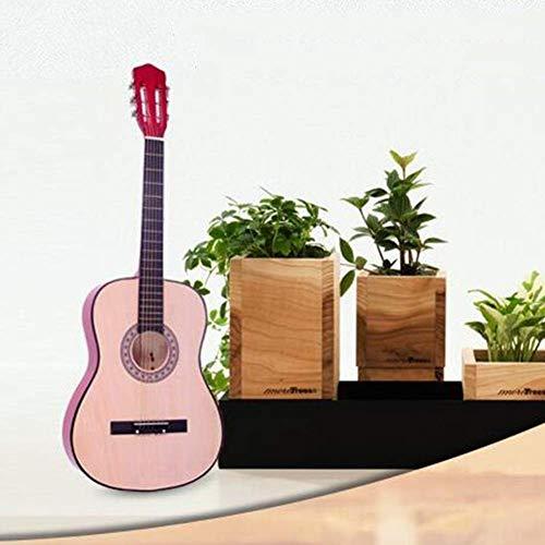 Guitarra Clásica Nylon Str superficie lisa sensación cómoda Semiclosed Perilla Cutaway 38 '' Musical infantil Ilustración, 5 colores (color: Natu, Tamaño: 96cm) xuwuhz ( Color : Orange , Size : 96cm )