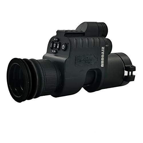 HUAYQ Visión Nocturna Caza Alcance Militar Telescopios monoculares 200m 1080P HD Cámara Digital Día Visión Nocturna Caza WiFi IR Infrarrojo 4x-14x