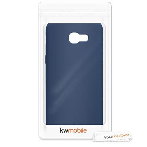 kwmobile Funda Compatible con Samsung Galaxy A5 (2017) - Carcasa de TPU Silicona - Protector Trasero en Azul Marino