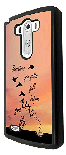 LG G3 Sometime You Gotta Fall Before You Fly Cool Diseño Fashion Trend Carcasa Case Back Cover de Metal y plástico