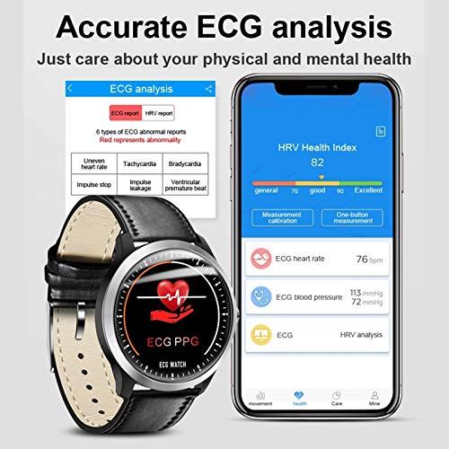 LTLJX Bluetooth Smart Watch Reloj Inteligente Mujer Hombre Pulsómetro,Cronómetros,Calorías,Monitor de Sueño,Podómetro Pulsera Actividad Impermeable Responder Llamadas Android e iOS,Plata
