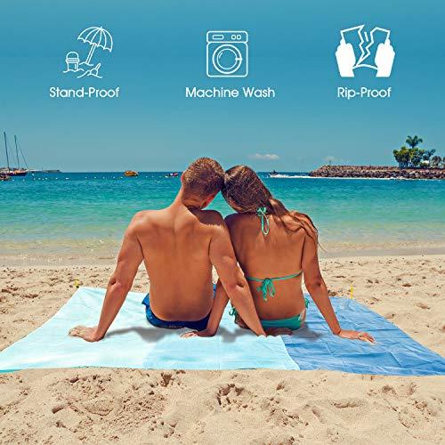 Mafiti Alfombra de Playa Esterilla Playa, Manta Picnic Impermeable Manta de Picnic 210 X 200cm Manta de Playa, Ideal para Playa, Picnic, Acampada o Cualquier Actividad al Aire Libre