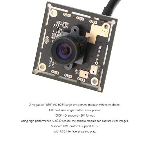 Módulo de Cámara de 100 ° Módulo de cámara USB Mini OTG UVC Sensor AR0330 1080P HD 1920 * 1080 HBV-1710-H264 1920 * 1080, 30 fps