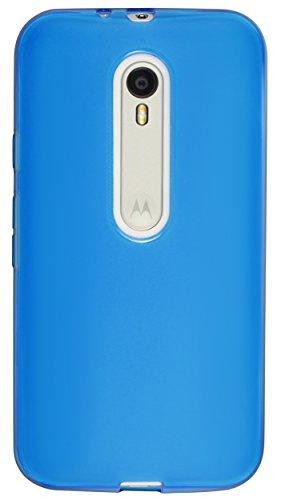 mumbi Funda Compatible con Motorola Moto G 3. Generation Caja del teléfono móvil, Azul Transparente