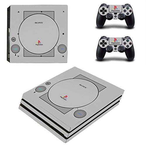 Pandaren completos placas frontales adhesivo para la consola PS4 PRO y controlador x 2 (PS One Style 20 años de aniversario)[Instrucción en las listas de imágenes]