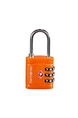 Samsonite Global Travel Accessories - TSA Three Dial Light Combi Candado para Equipaje, 7 cm, Naranja (Orange)