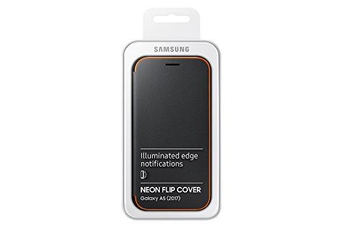 SAMSUNG Neon Flip Cover - Funda para Galaxy A5 2017, Color Negro