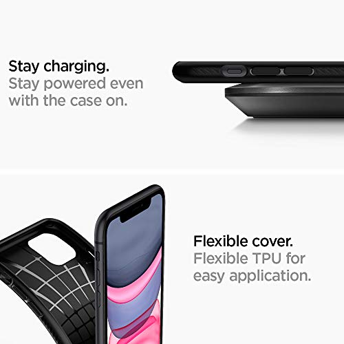 "Spigen Funda Liquid Air, Compatible con Apple iPhone 11 (6.1"") 2019 - Black"