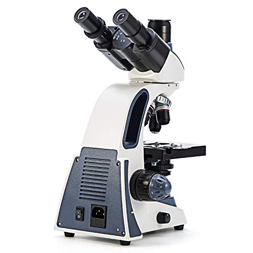 SWIFT microscopio trinocular compuesto SW380T, 40X-2500X, calidad de investigación, cabeza Siedentopf, oculares de campo amplio 10X, 25X, enfoque ultra preciso, compatible con cámara (ENCHUFE UK)