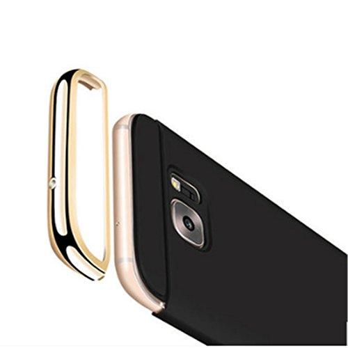 Tianyan Funda Galaxy A5 2017,Luxury 3 en 1 Hard PC Rígido Bumper Carcasa Anti-Scratch Ultrafina Slim Fit Protectora Case Cover para Samsung Galaxy A5 2017 A520,Negro