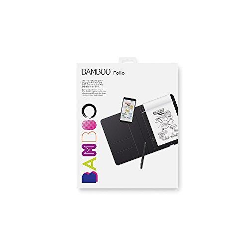 "Wacom Bamboo Folio - Digitalizador de notas, con funda, para pantallas de 9.7"", Bluetooth, Inkspace, color negro, A5"
