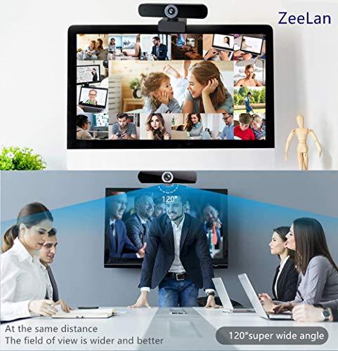 Webcam 1080P con Microfono para PC,Webcam Full HD Camara Web con Cubierta y Trípode,Webcam USB Vista Gran Angular para Videollamadas,Conferencias,Grabación y Juegos