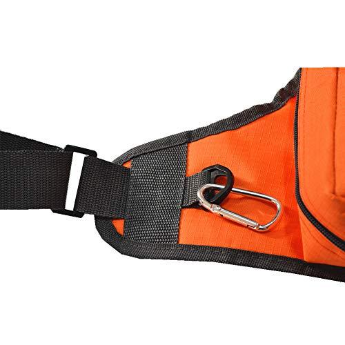 YYSDH Pesca Bolsa Negro, la Bolsa de Pesca de usos múltiples de la Lona Impermeable Carrete de Pesca señuelo trastos Bolsa Bolsa 32 * 39 * 12 Cm,Naranja