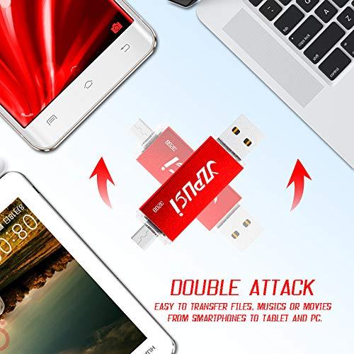 YZPUSI Android Micro USB Pendrive OTG, USB 2.0 32gb USB Memoria Flash Drive Dual Doble Transforma Flash Drive Memory Externa Compatible con PC, Huawei Smartphones, Tableta